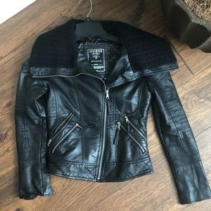 Guess vegan leather jacket